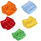 Lucky staryuan ® 5Pack Baby Diaper Reusable Leakproof Adjustable (1-3years, boy)