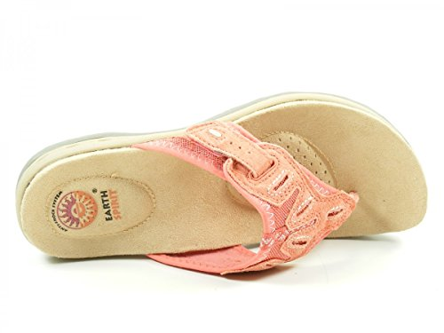 Earth Spirit 32027-17 Palm Bay Chanclas para mujer Rot