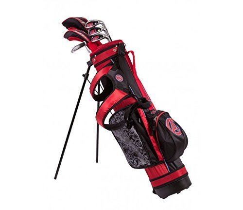 Marvel Maleavengers Junior Golf Set 6-8 Years, Driver, 4 Hybrid, 7 Iron, SW, Putter, Stand Bag, Headcovers [並行輸入品]   B01JVXDMG0