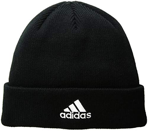 adidas Men's Team Issue Fold Beanie, Black/White, One Size -