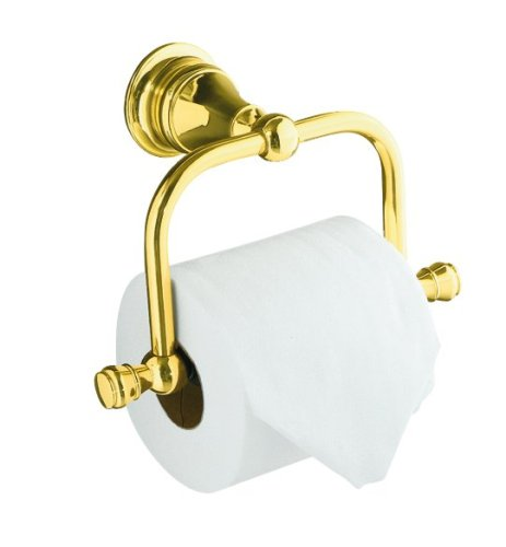 KOHLER K-16141-PB Revival Toilet Tissue Holder, Vibrant Polished (Kohler Brass Toilet Paper Holder)