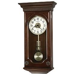 Jasmine Wall Clock in Hampton Cherry<br> Howard Miller 625384