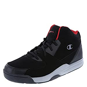 Champion Men's Black Grey Men's Overtime Basketball Shoe 9.5 Regular