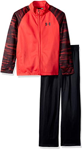 Under Armour Boys' Little Track Sets, red Voltage, 6