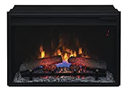 "ClassicFlame 26II310GRA 26"" Infrared Quartz Fireplace Insert with Safer Plug from Twin Star International, Inc."