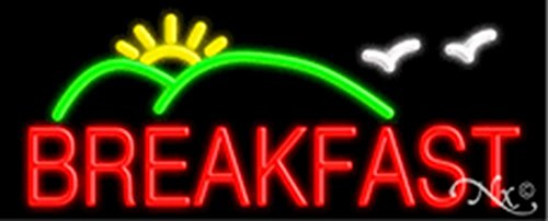 (13x32x3 inches Breakfast, Logo NEON Advertising Window Sign)