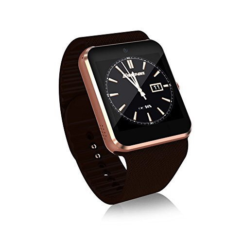QAR Smart Watch QW09 3G Call Mobile Payment Android System WiFi Fashion Photo Steps Movement Smart Watch (Color : Gold)