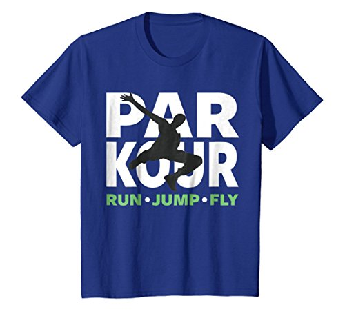 Kids PARKOUR TSHIRT, FREE RUNNING SHIRT, TRACEUR TSHIRT, PARKOUR 10 Royal Blue