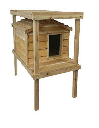 insulated cedar cat house - 9