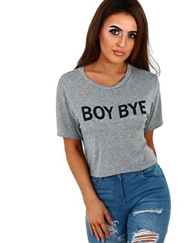 7 Fashion Road Damen T-Shirt, Slogan grau grau