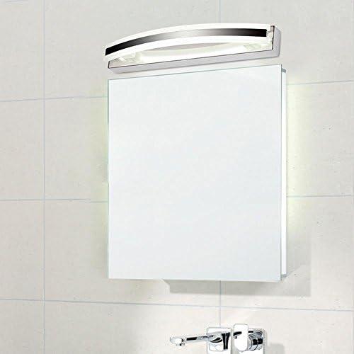 Badezimmer Spiegel Beleuchtung LED Badezimmerspiegel Licht Wandleuchte Spiegelschrank Licht LED Lampe Körper Edelstahl wasserdicht Weiß Licht 6000K mit Erdungsdraht 220V IP 44 Chrom