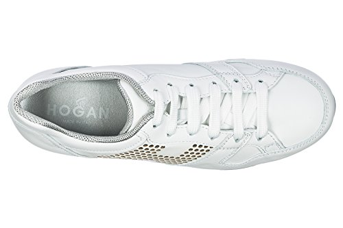 Shoes Hogan Sneakers White Women's Leather Trainers H222 pqpPF5w