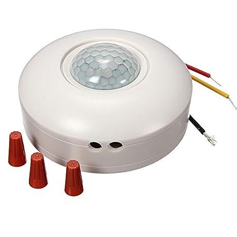 GOZAR 360 Grado Pir Sensor De Movimiento Detector Sensor Interruptor De Luz: Amazon.es: Hogar