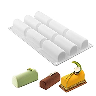 New Arrival White Silicone Roll Non-Stick Mold Log Delicate Chocolate Desserts Twinkie Tea-time Cake Polvoron Filipino Candy Pastries Molds