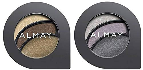 Almay Cosmetics Intense I-Color Everyday Neutrals (115 Hazels) and Evening Smoky (155 Hazels) Eyeshadow Bundle For Hazel Eyes, All Day Wear Powder Shadow, 0.2 oz each (Best Eyeshadow For Hazel Eyes)