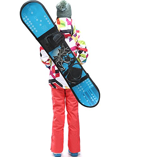 YYST Snowboard Shoulder Strap Snowboard Sleeve Snowboard Carry Strap Snowboard Sling Snowboard Carrier- Universal, Adjustalbe, Fits all Shapes of Snowboards!