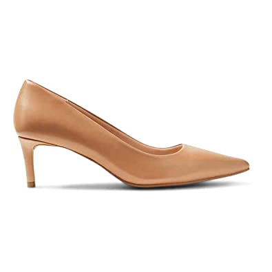 b6a81cd9ffe Ex Marks & Spencer M&S Collection T024616 Leather Kitten Heel Court ...
