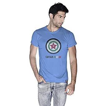 Creo Captain Jordan Superhero T-Shirt For Men - M, Blue