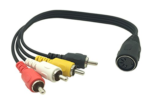Lemeng 1Ft 5 Pin Din Female to 4 RCA Male Professional Audio Adapter Cable for Bang & Olufsen, Naim, Quad.Stereo ()