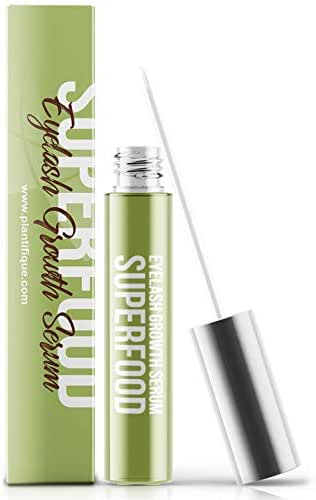 Superfood 4ml Eyelash Growth Serum for Lash - Thick Lashes and Eyebrows Enhances Eye Concealer Effect - Lash Booster & Eyebrow Serum to Grow Thicker - Irritation Free & Concentrated Formula