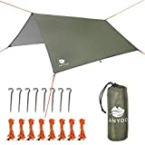 Anyoo Camping Tarp Shelter Lightweight Hammock Rain