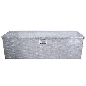 "ARKSEN 49"" Aluminum Toolboxes All Purpose Underbody Storage Trailer Truck Trailer Underbed w/ Key Lock"