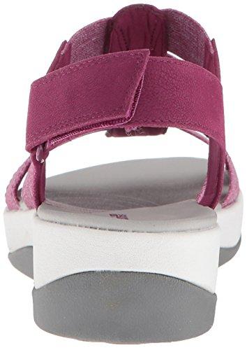 heathered deep Sandals elastic Arla Clarks Women's Shaylie fuchsia Ww1IHqYZ