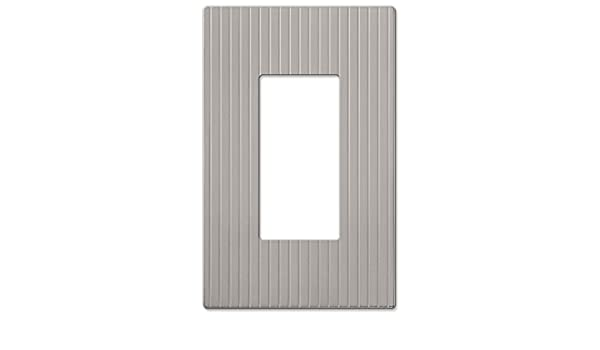 Amerelle 240TTN Mies Screwless 2 Toggle Wallplate Satin Nickel