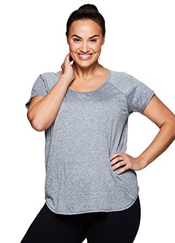 RBX Active Women's Plus Size Yoga T-Shirt Combo Charcoal 2X