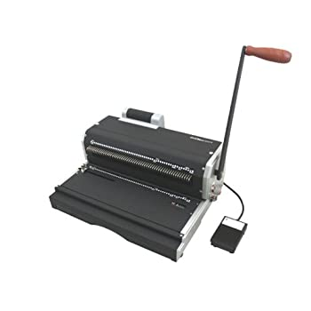 Image of Akiles Coilmac-ER 41 Plus Manual Coil Punch with Electric Coil Inserter, Special 4 x 5mm Oval Holes, Fully Disengageable Pins, Letter 4:1 pitch (0.248'), Extended Single Punching Length (13')