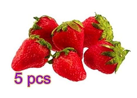 Fendii, cibo artificiale, fragola, 5 pezzi, 3cm x 2,5cm 3cm x 2 5cm