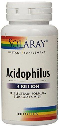 Solaray Acidophilus Plus Goat's Milk 3billion Supplement, 100 (Acidophilus Milk)