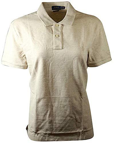 RALPH LAUREN Polo Womens Classic Fit Mesh Polo Shirt (Large, Dune ()