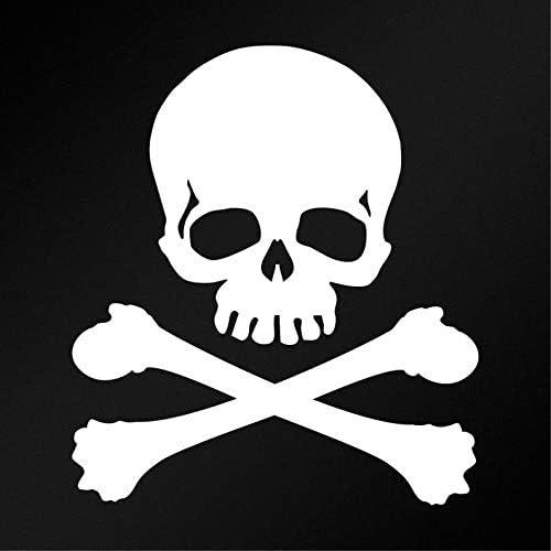Skeleton Crossbones Custom Skull Sticker