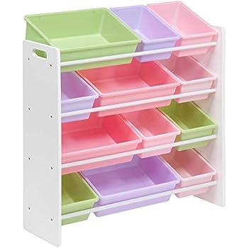 honeycando srt01603 kids toy organizer and storage bins whitepastel - Pastel Furniture