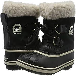 klassisk stort urval eleganta skor Sorel Yoot Pac Nylon Cold Weather Boot, Black, 5 M US Big Kid ...