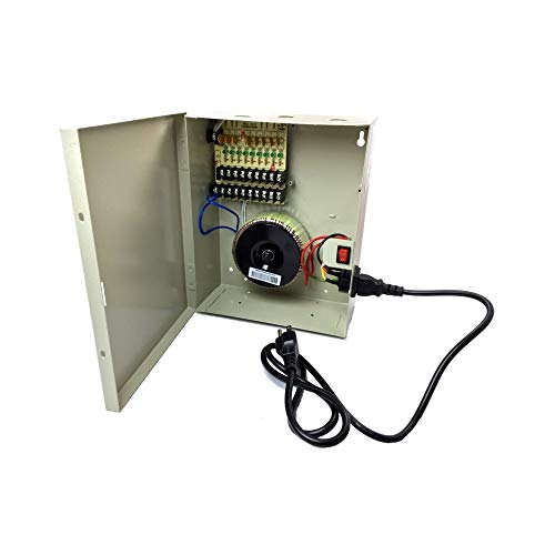 Box Cctv Supply 24vac Power - CCTV Camera Pros PSPRO-AC-9 24VAC Security Camera Power Supply Box, CCTV, 9 Channel Distributed