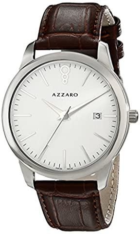 Azzaro Men's AZ2040.12AH.000 Legend Analog Display Swiss Quartz Brown Watch (Azzaro Men Quartz)