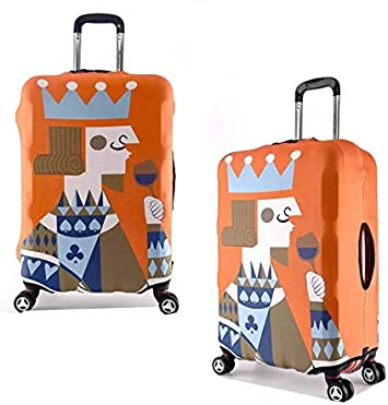 Galaxy Elastic Travel Luggage Cover,Double Print Fashion Washable Suitcase Protective Cover Fits 18-32inch Luggage