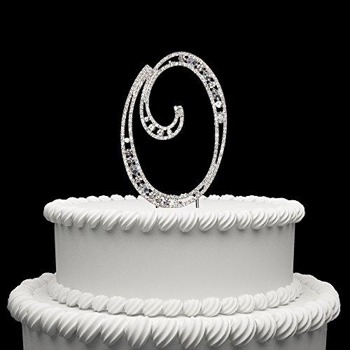Hatcher lee Diamante Rhinestone Crystal Monogram Letter Alphabet Cake Toppers for Wedding Birthday Party Decoration 1pcs ()