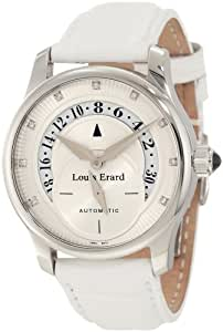 Louis Erard Women's 91601AA50.BAV02 Emotion Automatic Diamond White Leather Watch