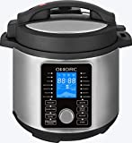 OMORC DFB01 Multi-Use Pressure, Slow, Rice Cooker, Steamer, Saute, Yogurt Maker and Warmer, 5L, Silver Review