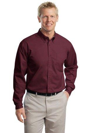 Port Authority Long Sleeve Easy Care Shirt, Burgundy, ()