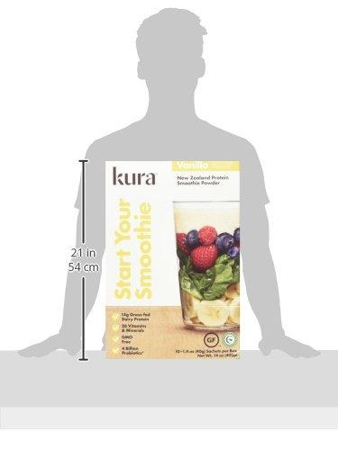 Kura Grass Fed Dairy Protein Powder, Vanilla, New Zealand Born, 10 Count Single-Serve Travel Packets by Kura Nutrition (Image #9)