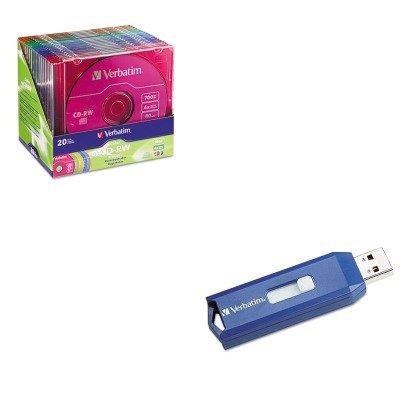 KITVER94300VER97086 - Value Kit - Verbatim CD-RW Discs (VER94300) and Verbatim Classic USB 2.0 Flash Drive (VER97086)