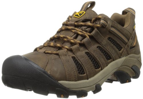 Keen Voyageur Hiking Shoe – Men's Black Olive/Inca Gold, 10.0