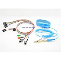 Computer Motherboard ATX Power Reset Switch HDD LED Bundle Cable Bios Beep Code Speaker with Corded Antistatic Wrist Strap Kit