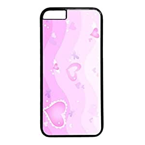 Sweet Love Design Black PC Case for Iphone 6 Pink