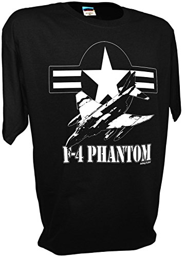(Mens F4 Phantom Fighter Bomber Jet USAF Tee By Achtung T Shirt LLC)