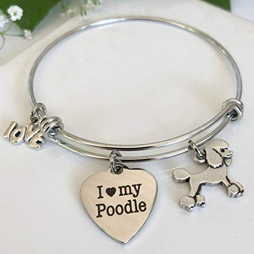 Poodle Bracelet - Charm Bangle for Dog Owners - Pet Themed Jewelry